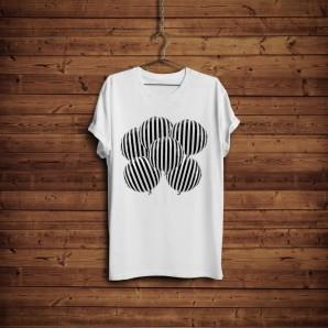 Tricou DTG `Black & White Baloons`