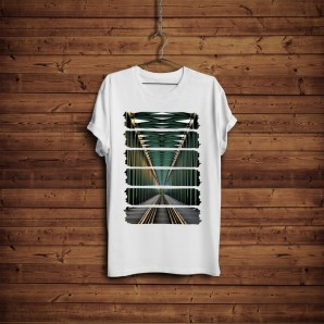 Tricou DTG `Railway Perspective`