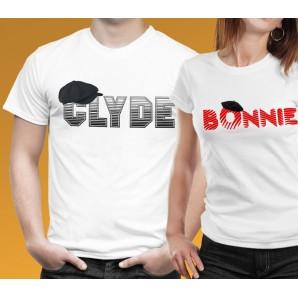Tricou imprimat DTG Bonnie & Clyde
