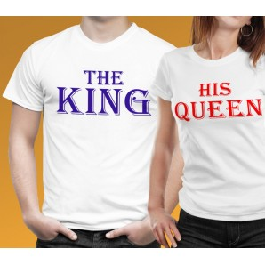 Tricou imprimat DTG King & Queen