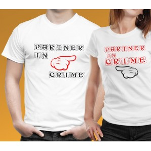 Tricou imprimat DTG Partner in Crime