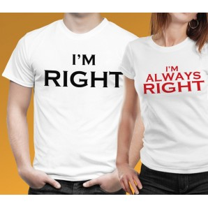 Tricou imprimat DTG I am always right