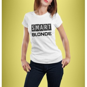 Tricou imprimat DTG Smart Blonde