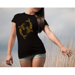 Tricou imprimat DTG Pesti Fata-Spate