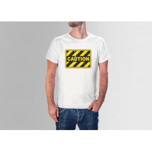 Tricou imprimat DTG Caution