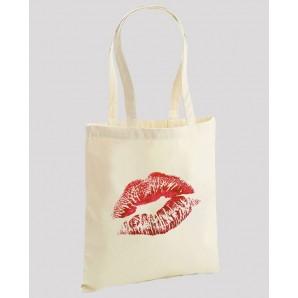 Sacosa din bumbac Red Lipstick