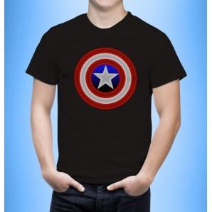 Tricou imprimat Captain America Metalic
