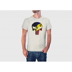 Tricou imprimat Punisher tricolor