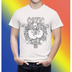 Tricou imprimat DTG Luptator getic
