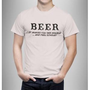 Tricou imprimat DTG Beer