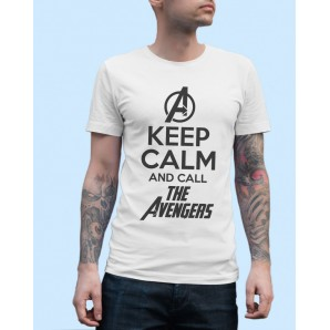 Tricou imprimat DTG Keep Calm Call the Avengers