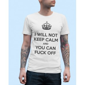 Tricou imprimat DTG Keep Calm Fck Off