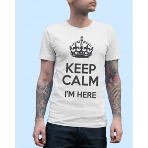 Tricou imprimat DTG Keep Calm I am Here