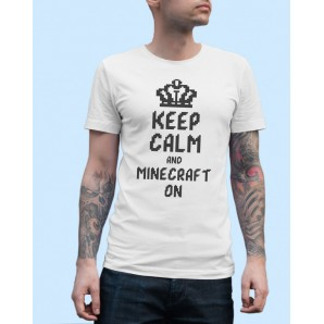 Tricou imprimat DTG Keep Calm Minecraft