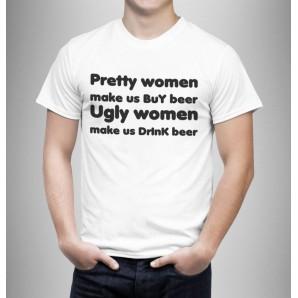 Tricou imprimat DTG Buy beer, drink beer